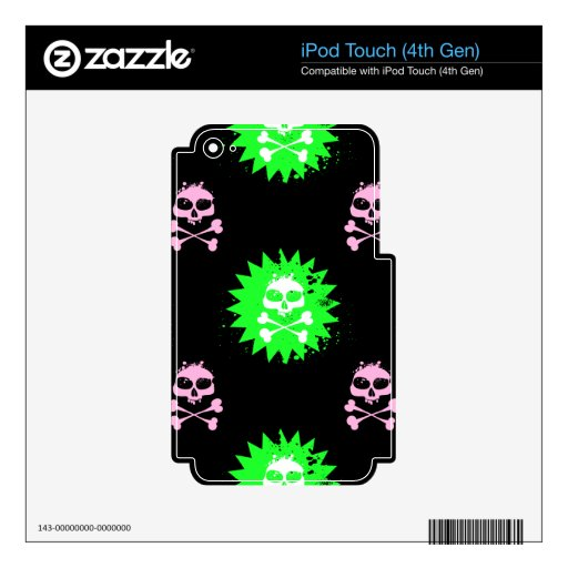 Skull and Crossbones Skins For iPod Touch 4G