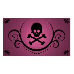 skull and crossbones sophistications business card template
