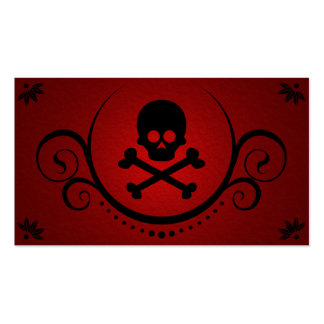 skull and crossbones sophistications Double-Sided standard business cards (Pack of 100)