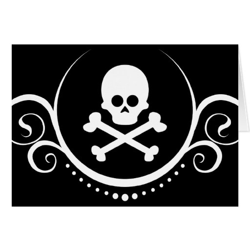 skull and crossbones sophistications greeting cards