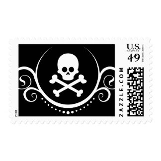 skull and crossbones sophistications postage stamps