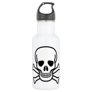 Skull and Crossbones Stainless Steel Water Bottle