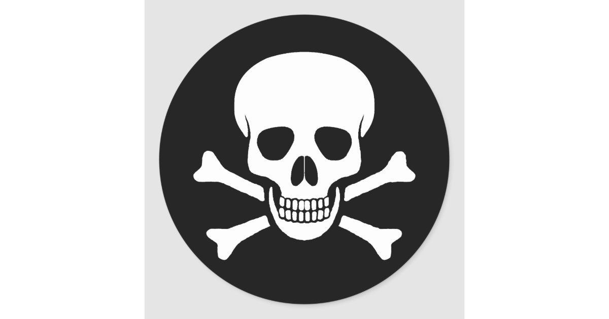 Skull and crossbones sticker zazzle com