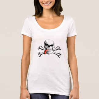 Skull and Crossbones: Tongue out T-Shirt
