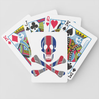 Skull and Crossbones Union Jack Bicycle Playing Cards