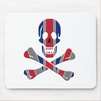 Skull and Crossbones Union Jack Mouse Pad