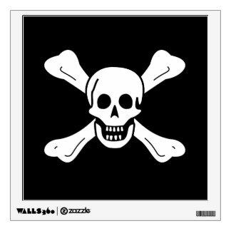 Skull and Crossbones Wall Sticker