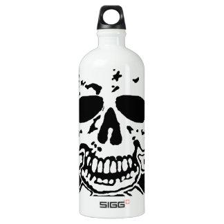 skull and crossbones. water bottle