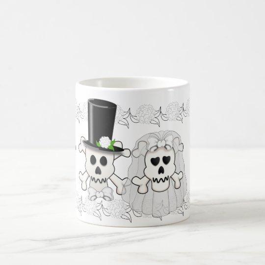 Skull and Crossbones Wedding Couple mug