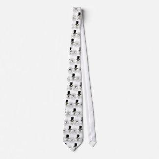 Skull and Crossbones Wedding Couple Pattern tie