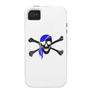 Skull And Crossbones With Bandana iPhone 4 Cases