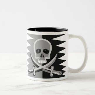 Skull and Crossbones with Funny Pirate Saying Two-Tone Coffee Mug