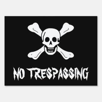 Skull and Crossbones Yard Sign