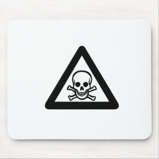 Skull And Crossbones Yield Mousepads
