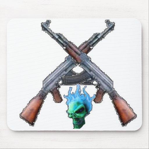 Skull and crossed Ak47s mousepad