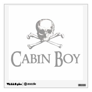 Skull and Crossed Bones - Cabin Boy Wall Sticker