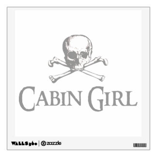 Skull and Crossed Bones - Cabin Girl Wall Sticker