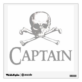 Skull and Crossed Bones - Captain Wall Decal