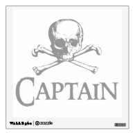 Skull and Crossed Bones - Captain Wall Decals