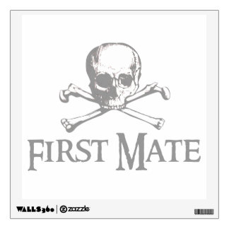 Skull and Crossed Bones - First Mate Wall Sticker