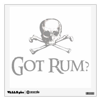 Skull and Crossed Bones - Got Rum? Wall Sticker