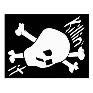 Skull and Crossed Bones Killin' it Postcard