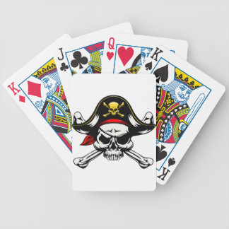 Skull and Crossed Bones Pirate Bicycle Playing Cards