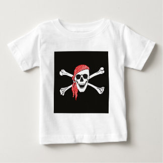Skull and Crossed Bones Pirate Flag Baby T-Shirt