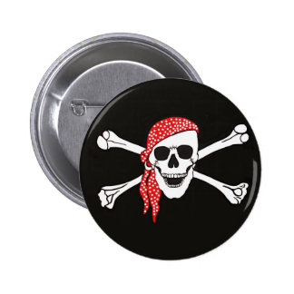 Skull and Crossed Bones Pirate Flag Buttons