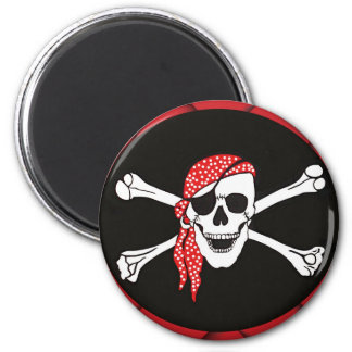 Skull and Crossed Bones Pirate Flag Magnet