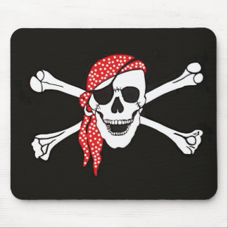 Skull and Crossed Bones Pirate Flag Mouse Pad