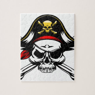 Skull and Crossed Bones Pirate Jigsaw Puzzle