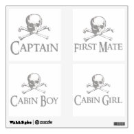 Skull and Crossed Bones Pirate Party Pack Room Graphics