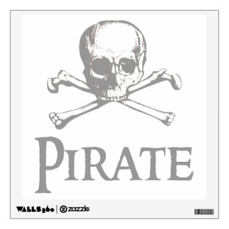 Skull and Crossed Bones - Pirate Wall Decal