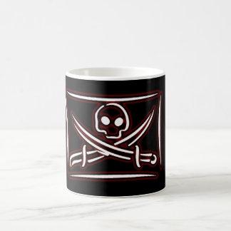 Skull and Crossed Sword Coffee Pirate Mug #1