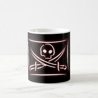 Skull and Crossed Sword Pirate Flag Coffee Mug #1