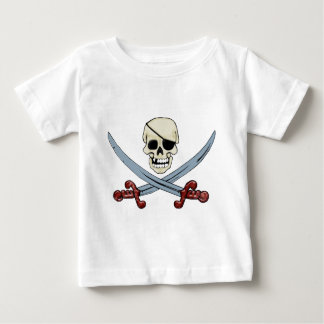 Skull and Crossed Swords 3D.png Baby T-Shirt