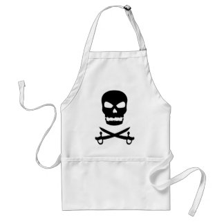 Skull and Crossed Swords Adult Apron