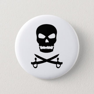 Skull and Crossed Swords Pinback Button