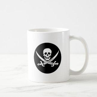 Skull and Crossed Swords Pirate Flag Coffee Mug