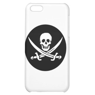 Skull and Crossed Swords Pirate Flag Cover For iPhone 5C
