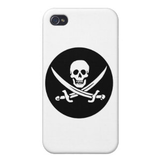 Skull and Crossed Swords Pirate Flag Cases For iPhone 4