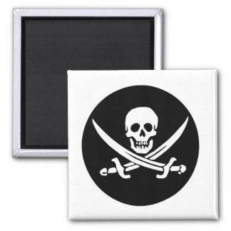 Skull and Crossed Swords Pirate Flag Magnet