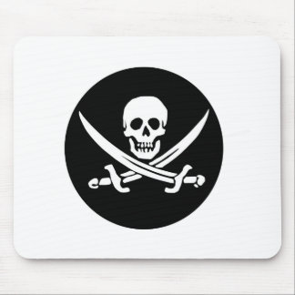 Skull and Crossed Swords Pirate Flag Mouse Pad