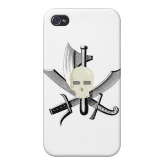 SKULL AND CROSSED SWORDS PRINT iPhone 4/4S CASES