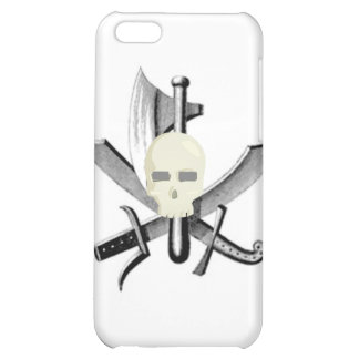 SKULL AND CROSSED SWORDS PRINT iPhone 5C COVER