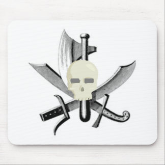 SKULL AND CROSSED SWORDS PRINT MOUSE PADS