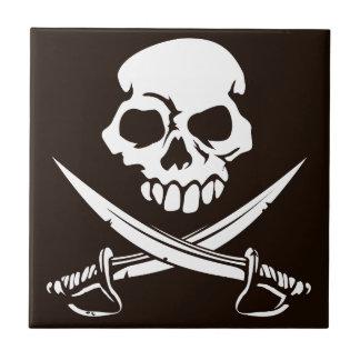 Skull and Crossed Swords Tile