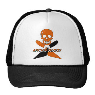 Skull and Crossed Trowels Archaeology Trucker Hat