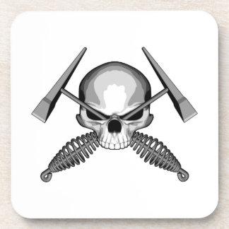 Skull and Crossed Welders Hammers Coaster